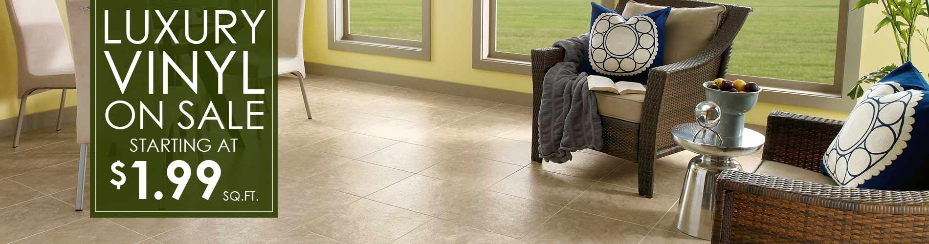 Flooring on Sale Now. Carpet, Luxury Vinyl Tile, Stone, Laminate ...